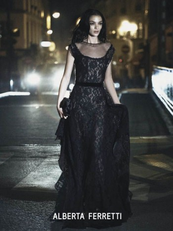 Mariacarla Boscono Enchants in Alberta Ferretti Fall 2013 Campaign