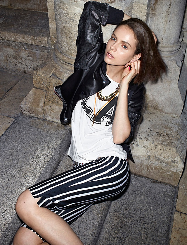 marie claire zoltan4 Adrienn Dencsi is Casual Chic for Zoltan Tombor in Marie Claire Hungary