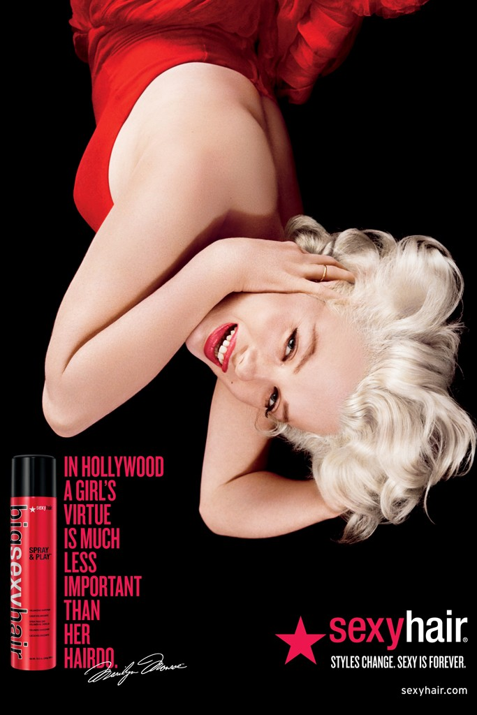 Marilyn Monroe Fronts Sexy Hair Campaign