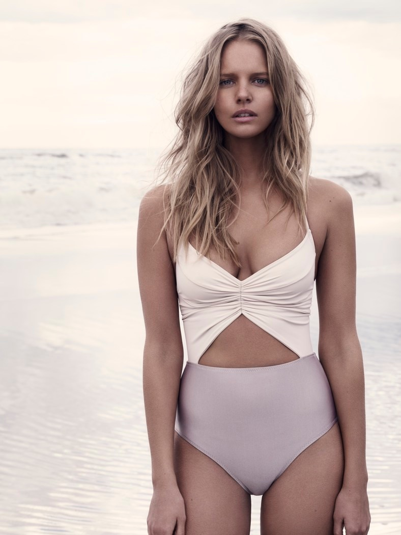 marloes horst model3 Marloes Horst Models Swimwear Looks for Harpers Bazaar UK by David Slijper