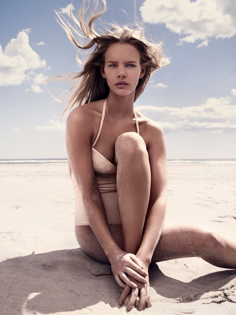 marloes horst model5 Marloes Horst Models Swimwear Looks for Harpers Bazaar UK by David Slijper