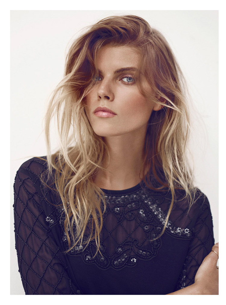 maryna hm3 Maryna Linchuk Sports All Black Style for H&M