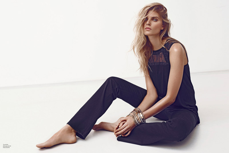Maryna Linchuk Sports All Black Style for H&M