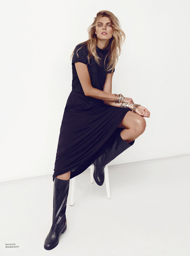 maryna hm6 Maryna Linchuk Sports All Black Style for H&M