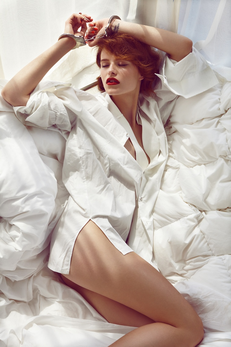 Barbora Holotova Seduces for Maxima Portugal by Branislav Simoncik