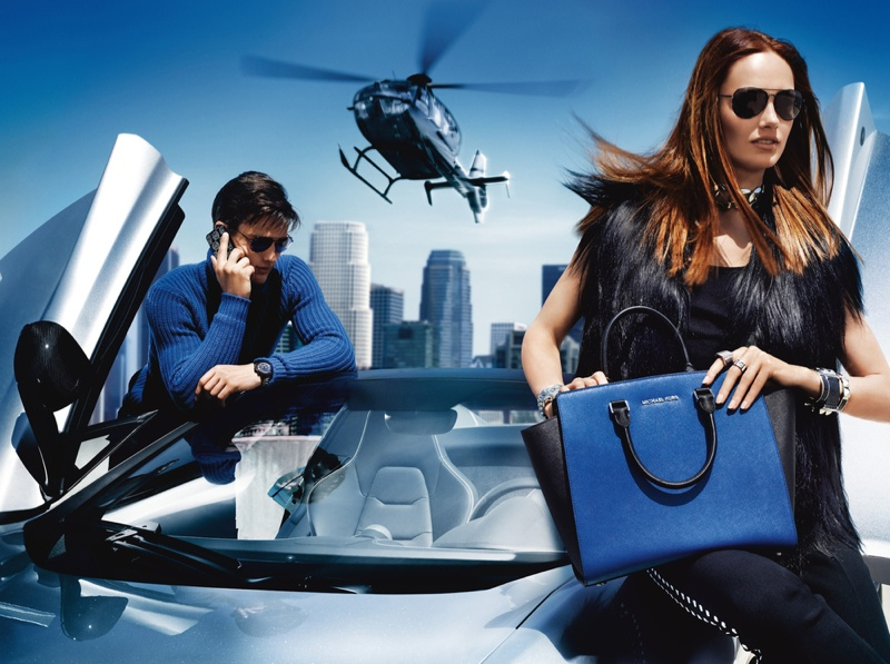 michael kors fw ads1 Michael Kors Fall 2013 Campaign Taps Karmen Pedaru for a Jetset Outing