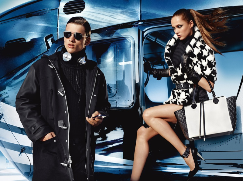 michael kors fw ads2 Michael Kors Fall 2013 Campaign Taps Karmen Pedaru for a Jetset Outing