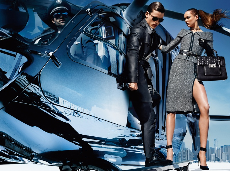 michael kors fw ads3 Michael Kors Fall 2013 Campaign Taps Karmen Pedaru for a Jetset Outing