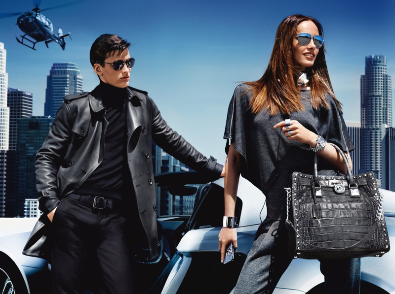 michael kors fw ads4 Michael Kors Fall 2013 Campaign Taps Karmen Pedaru for a Jetset Outing