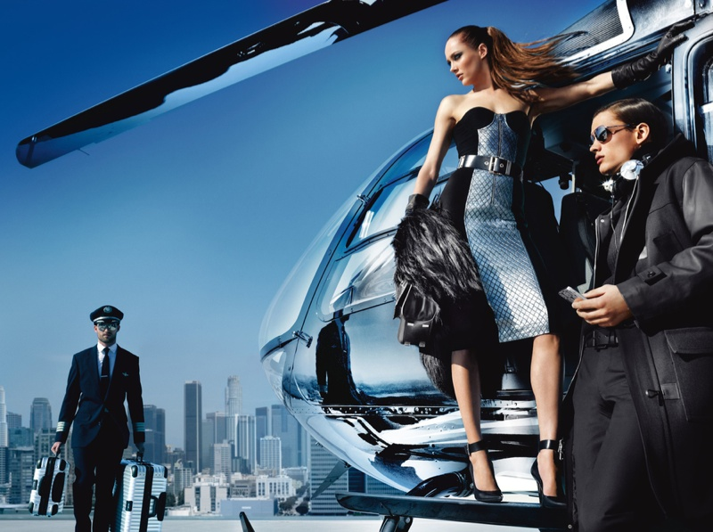 michael kors fw ads6 Michael Kors Fall 2013 Campaign Taps Karmen Pedaru for a Jetset Outing