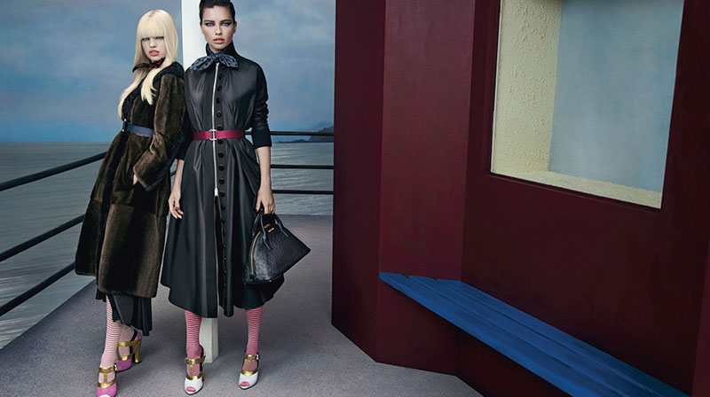 miu miu fall ads10 Miu Miu Fall 2013 Campaign Enlists Adriana Lima, Daphne Groeneveld, Georgia May Jagger and More