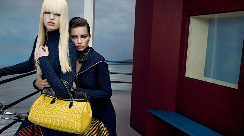 miu miu fall ads13 Miu Miu Fall 2013 Campaign Enlists Adriana Lima, Daphne Groeneveld, Georgia May Jagger and More