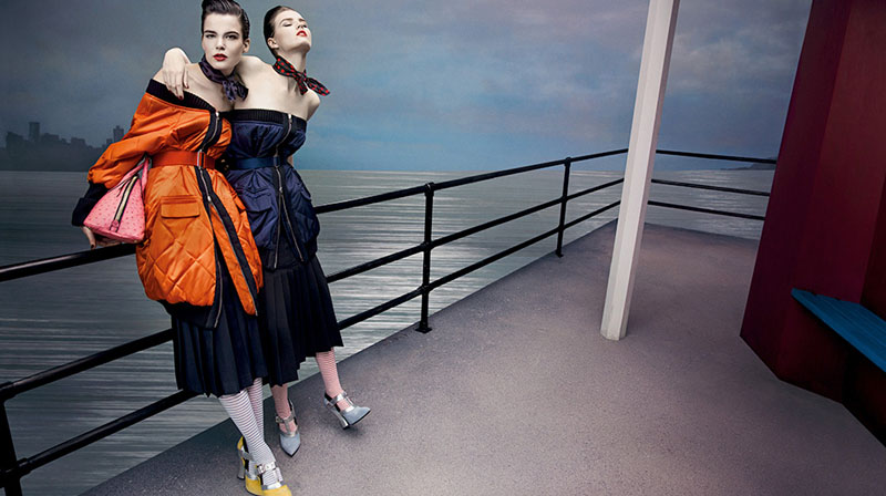miu miu fall ads2 Miu Miu Fall 2013 Campaign Enlists Adriana Lima, Daphne Groeneveld, Georgia May Jagger and More