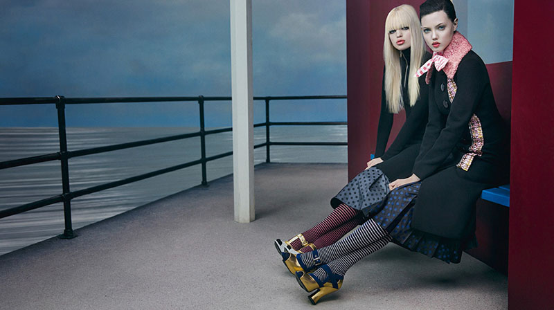 miu miu fall ads5 Miu Miu Fall 2013 Campaign Enlists Adriana Lima, Daphne Groeneveld, Georgia May Jagger and More