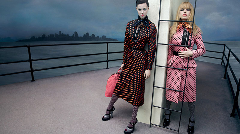 miu miu fall ads7 Miu Miu Fall 2013 Campaign Enlists Adriana Lima, Daphne Groeneveld, Georgia May Jagger and More