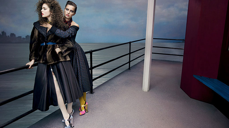 miu miu fall ads9 Miu Miu Fall 2013 Campaign Enlists Adriana Lima, Daphne Groeneveld, Georgia May Jagger and More