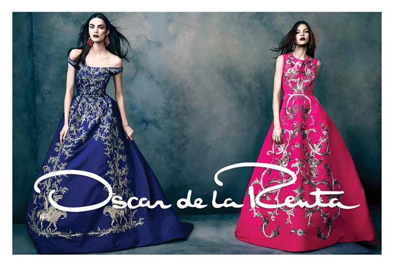 oscar de la renta fw1 Oscar de la Renta Gets Glam for Fall 2013 Campaign by Norman Jean Roy