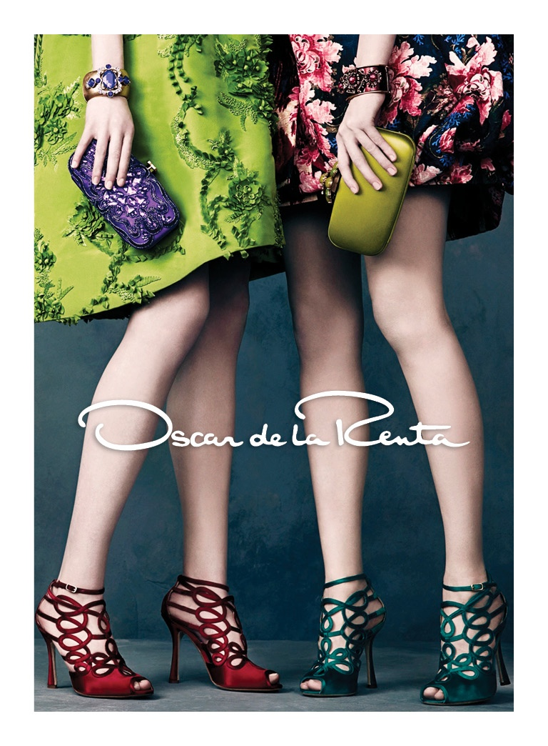 oscar de la renta fw2 Oscar de la Renta Gets Glam for Fall 2013 Campaign by Norman Jean Roy