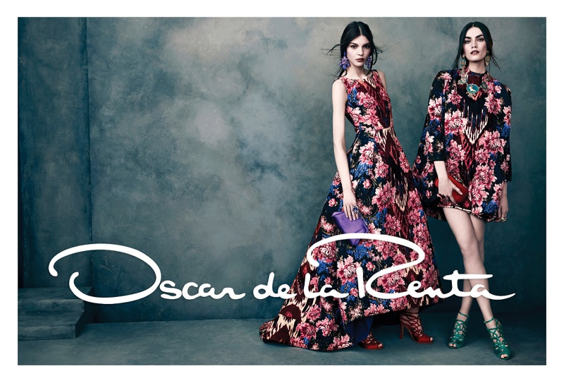 oscar de la renta fw3 Oscar de la Renta Gets Glam for Fall 2013 Campaign by Norman Jean Roy