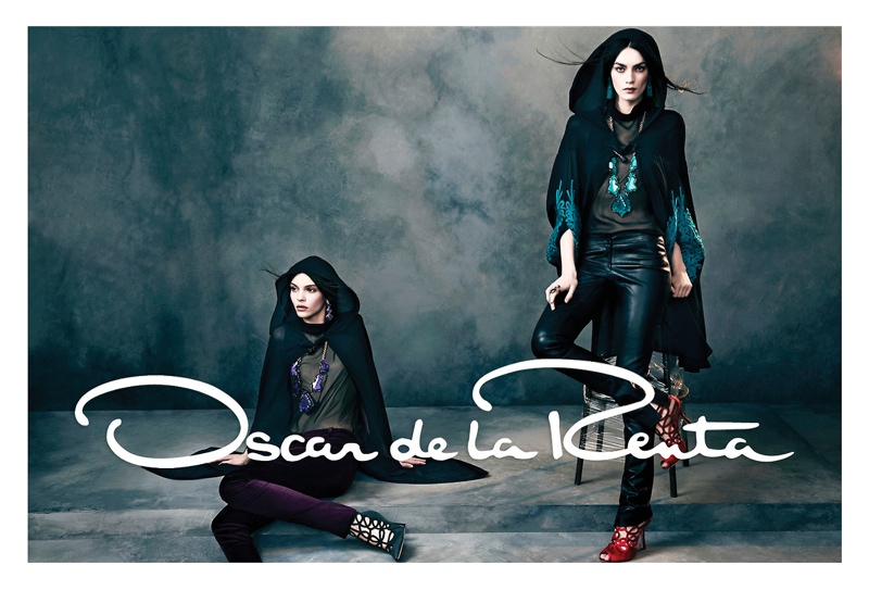 oscar de la renta fw5 Oscar de la Renta Gets Glam for Fall 2013 Campaign by Norman Jean Roy