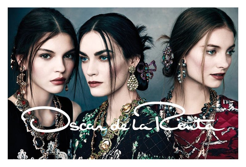 oscar de la renta fw7 Oscar de la Renta Gets Glam for Fall 2013 Campaign by Norman Jean Roy