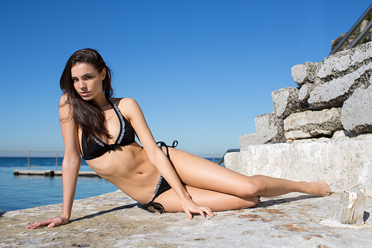 Kate Martin Models Paolita's Swim 2013 Collection by Karl Clifford