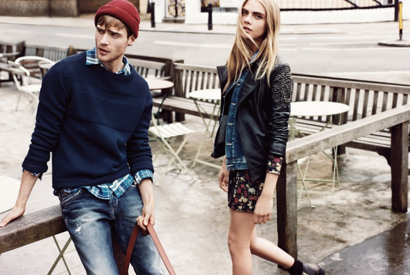 pepe jeans cara fall6 800x536 Cara Delevingne Gets Casual for Pepe Jeans Fall 2013 Campaign