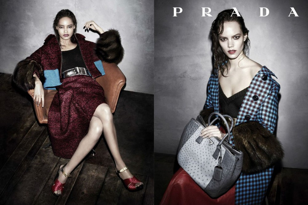 prada fall ads1 1000x667 See Pradas Complete Fall 2013 Campaign by Steven Meisel