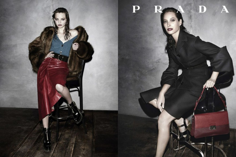 prada fall ads10 1000x667 See Pradas Complete Fall 2013 Campaign by Steven Meisel
