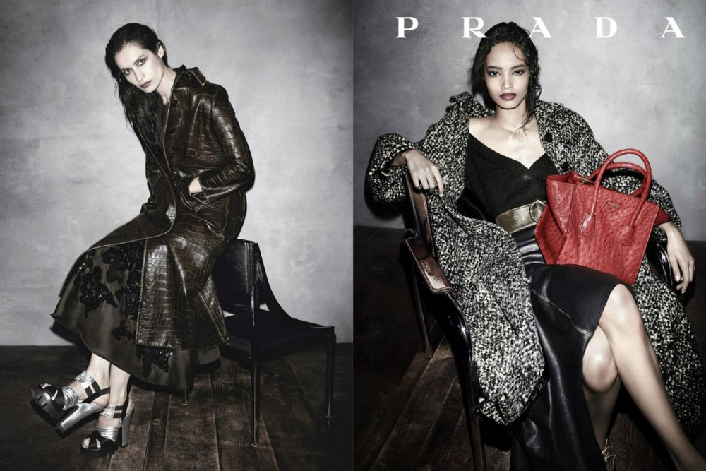 prada fall ads2 1000x667 See Pradas Complete Fall 2013 Campaign by Steven Meisel