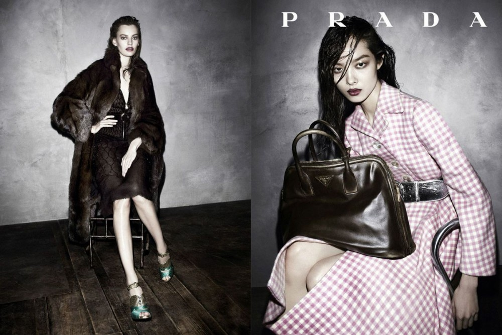 prada fall ads5 1000x667 See Pradas Complete Fall 2013 Campaign by Steven Meisel