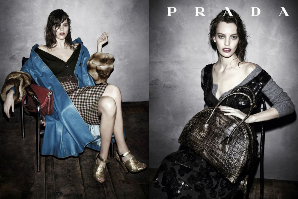 prada fall ads7 1000x667 See Pradas Complete Fall 2013 Campaign by Steven Meisel