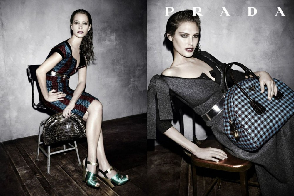 prada fall ads8 1000x667 See Pradas Complete Fall 2013 Campaign by Steven Meisel