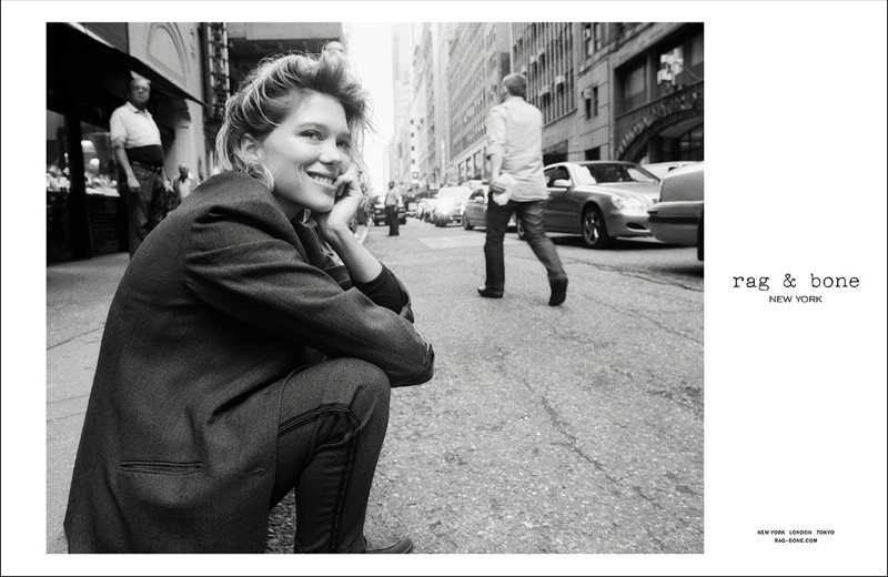 rag bone aw ads1 Léa Seydoux Stars in Rag & Bone Fall 2013 Campaign by Glen Luchford