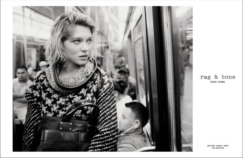 rag bone aw ads2 Léa Seydoux Stars in Rag & Bone Fall 2013 Campaign by Glen Luchford