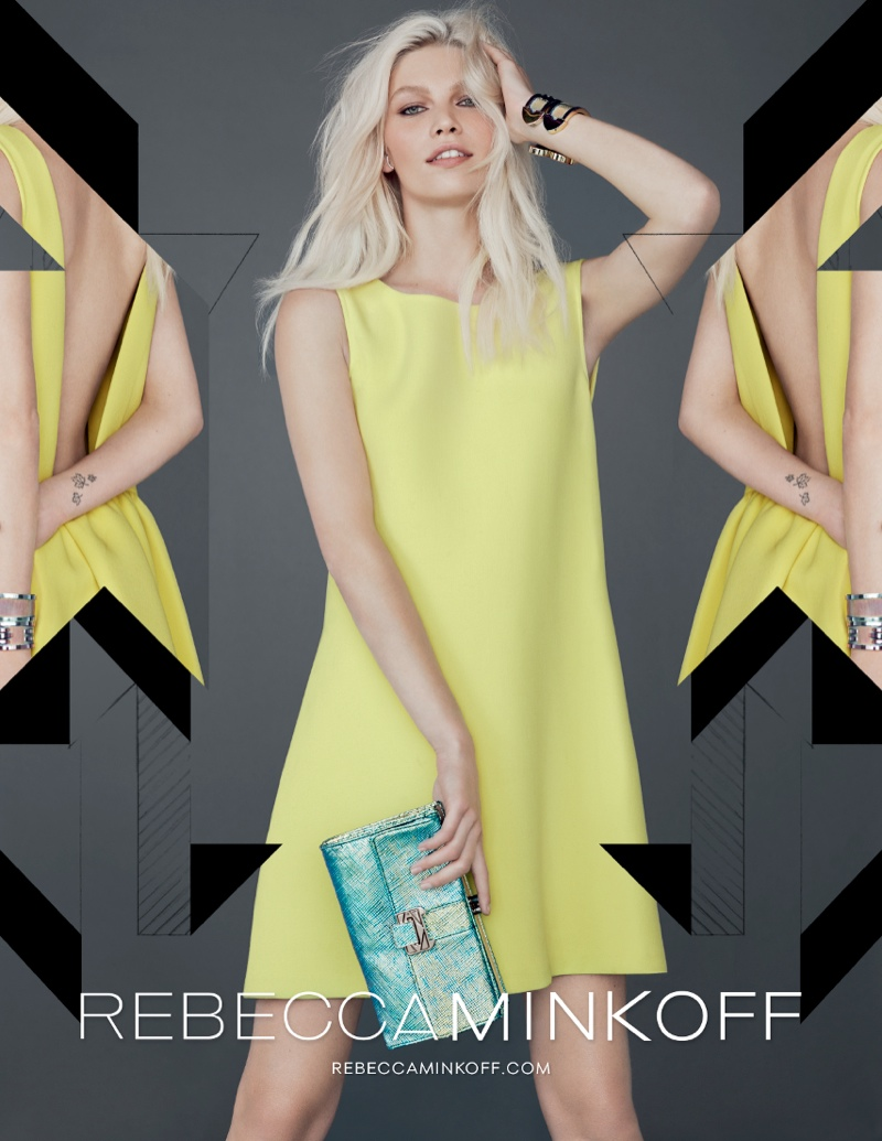 rebecca minkoff fw ads1 Aline Weber Gets Playful for Rebecca Minkoff Fall 2013 Campaign