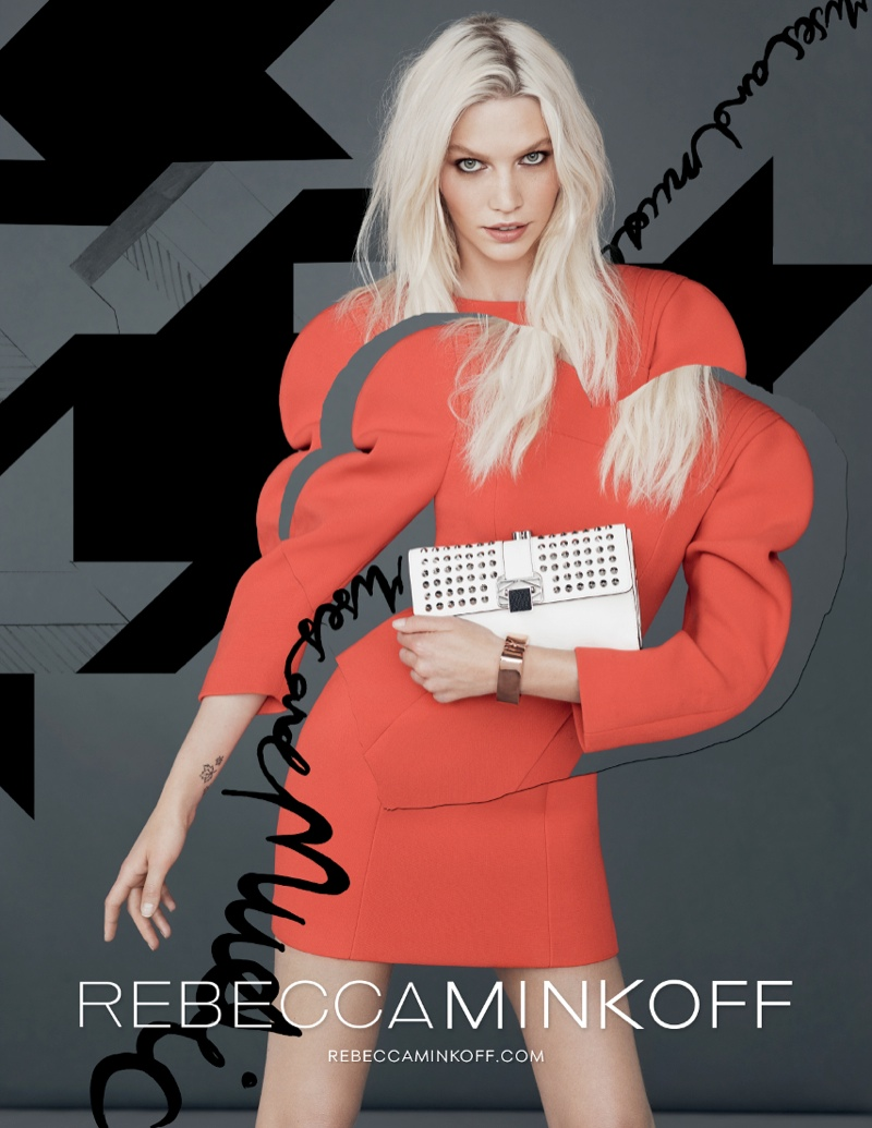 rebecca minkoff fw ads2 Aline Weber Gets Playful for Rebecca Minkoff Fall 2013 Campaign