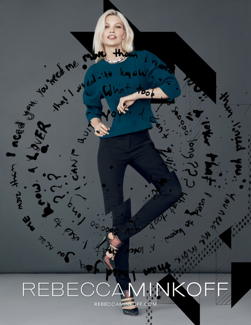 rebecca minkoff fw ads3 Aline Weber Gets Playful for Rebecca Minkoff Fall 2013 Campaign