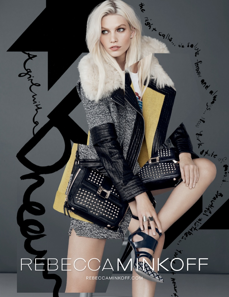 rebecca minkoff fw ads4 Aline Weber Gets Playful for Rebecca Minkoff Fall 2013 Campaign