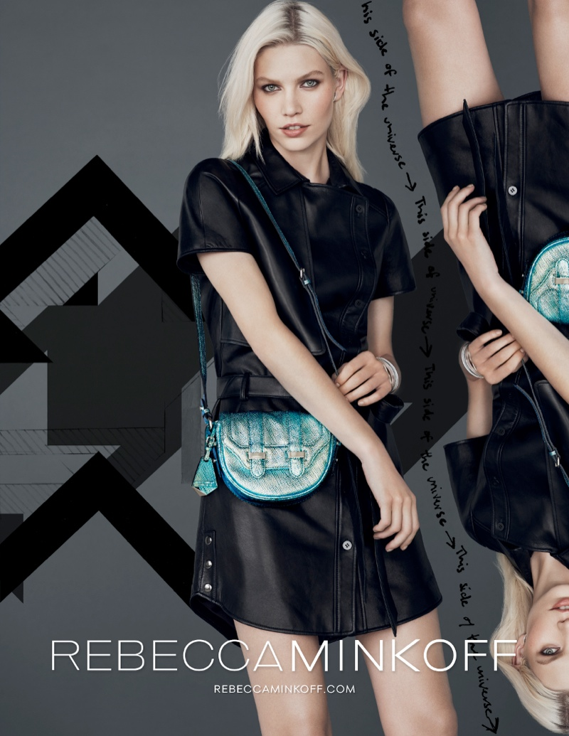 rebecca minkoff fw ads7 Aline Weber Gets Playful for Rebecca Minkoff Fall 2013 Campaign