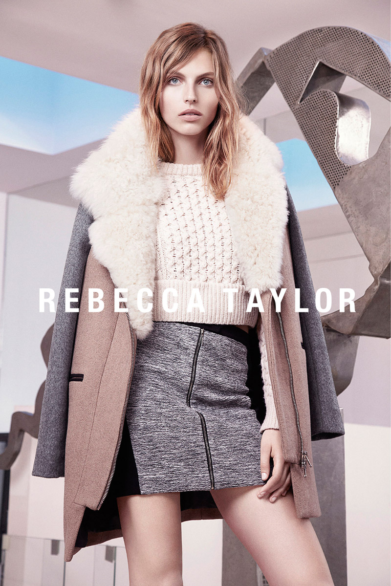 rebecca taylor fw ads1 Rebecca Taylor Fall 2013 Ads Star Karlina Caune by Carlotta Manaigo