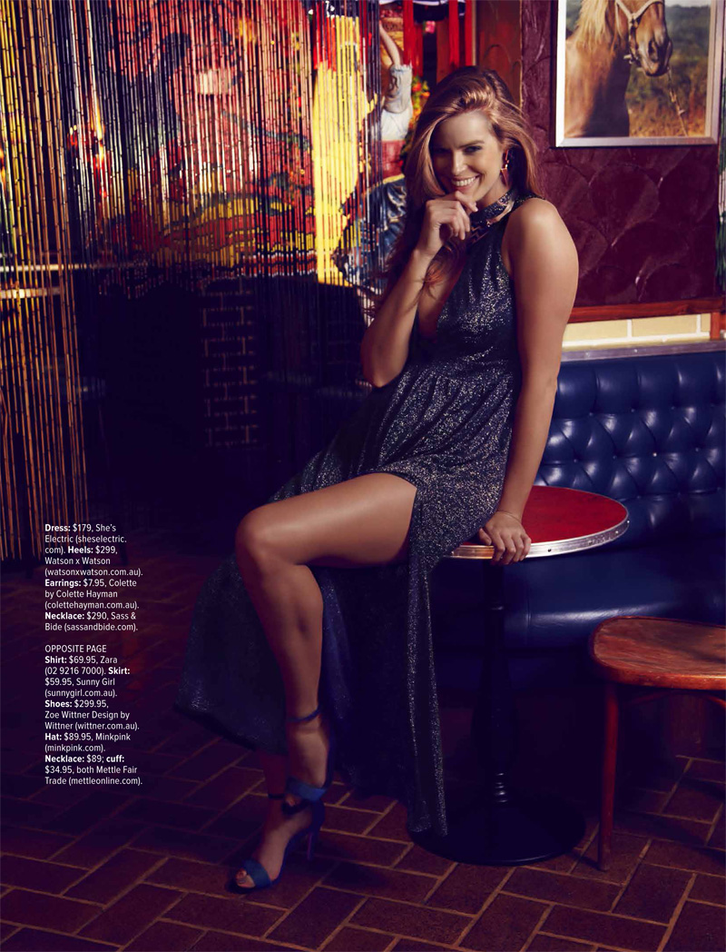 robyn happy hour3 Robyn Lawley Enjoys the Night Life for Cosmopolitan Australia August 2013