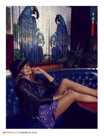 Robyn Lawley Enjoys the Night Life for Cosmopolitan Australia August 2013