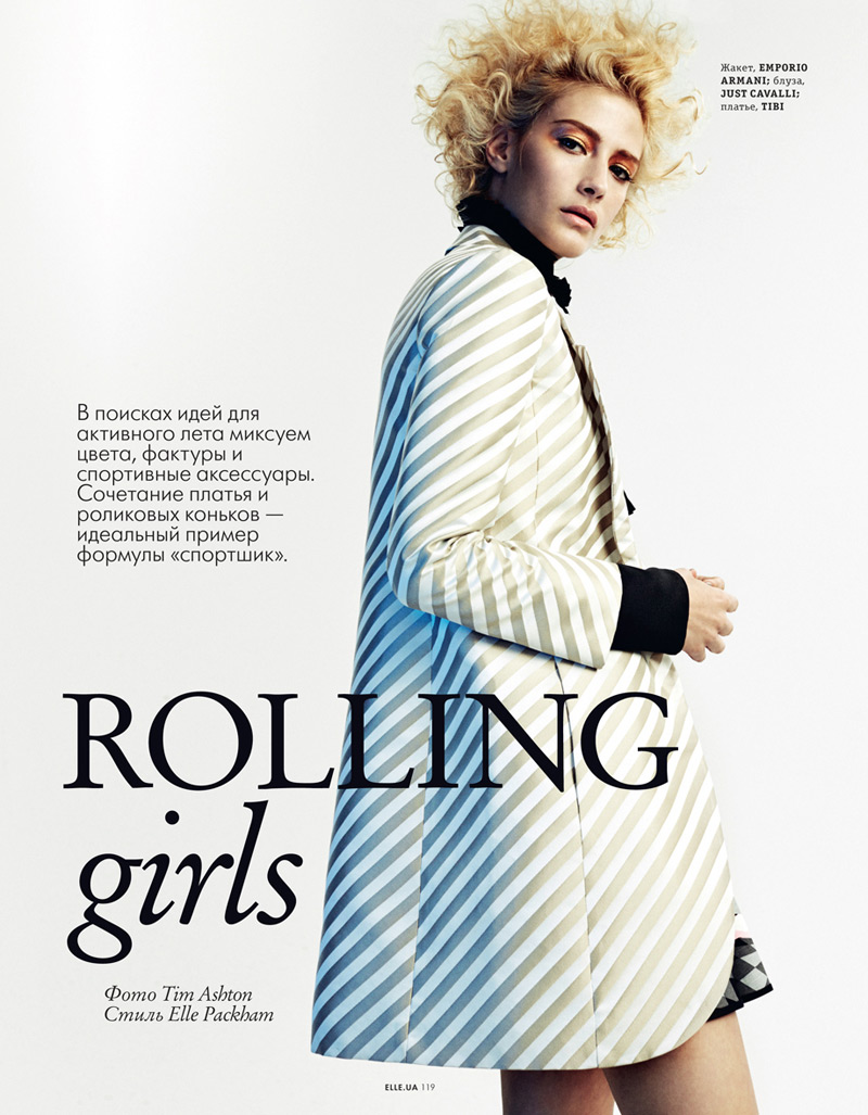 rolling girls2 Caitlin Lomax and Ismini Are Roller Girls for Elle Ukraine by Tim Ashton