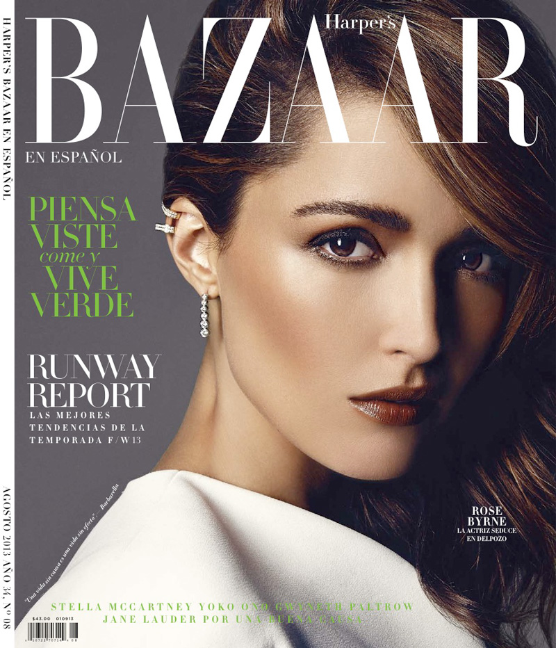 rose byrne actress9 Rose Byrne Poses in Harpers Bazaar Latin America August 2013 Cover Shoot