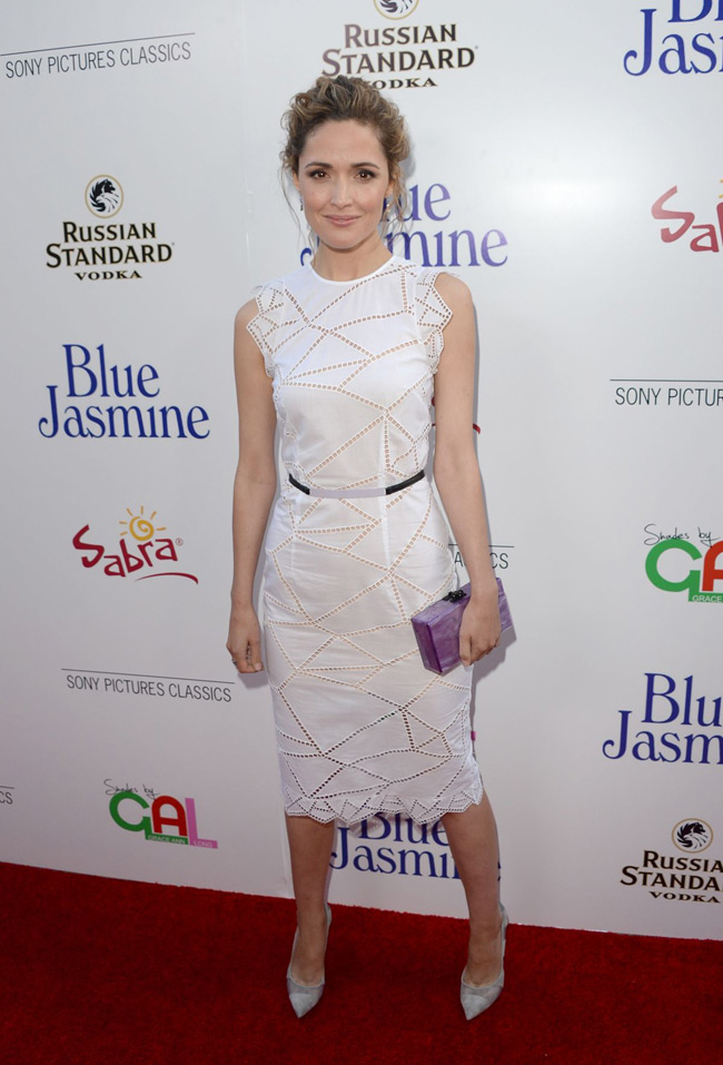 rose byrne christopher kane2 Rose Byrne Wears Christopher Kane at the Blue Jasmine Los Angeles Premiere