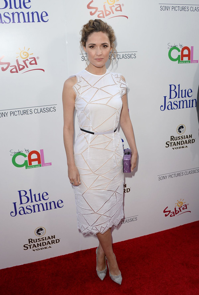 rose byrne christopher kane3 Rose Byrne Wears Christopher Kane at the Blue Jasmine Los Angeles Premiere