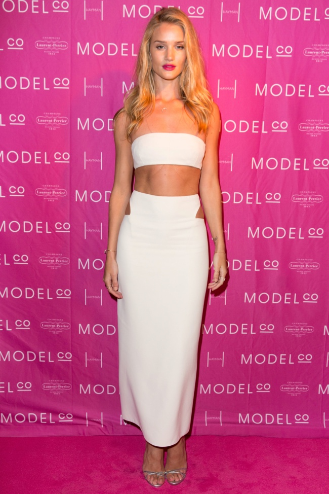 rosie calvin klein Rosie Huntington Whiteley Dons Calvin Klein Collection at ModelCo Event
