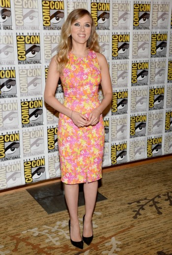 Scarlett Johansson Wears Versace at 2013 Comic-Con in San Diego