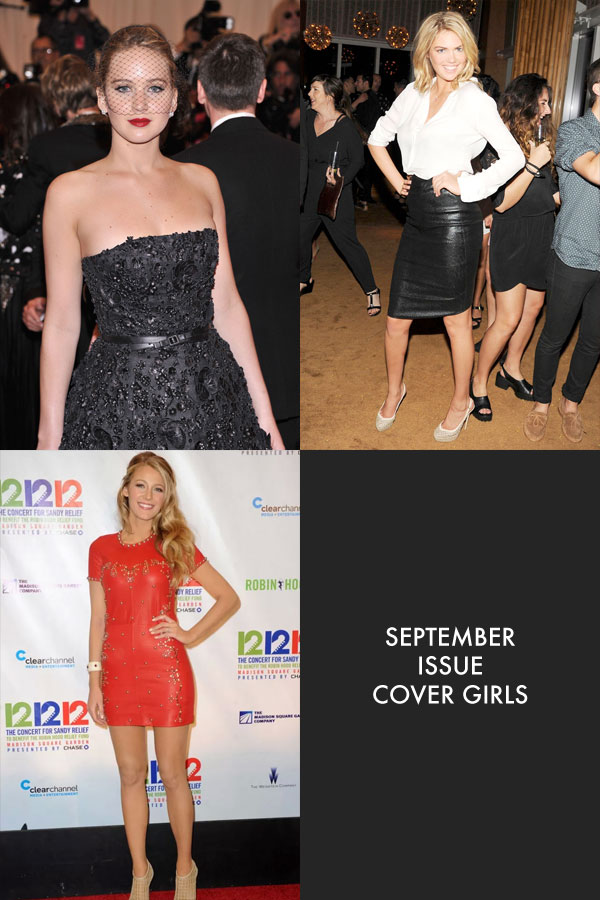 september issue stars Kate Upton, Jennifer Lawrence and More September Cover Stars Revealed